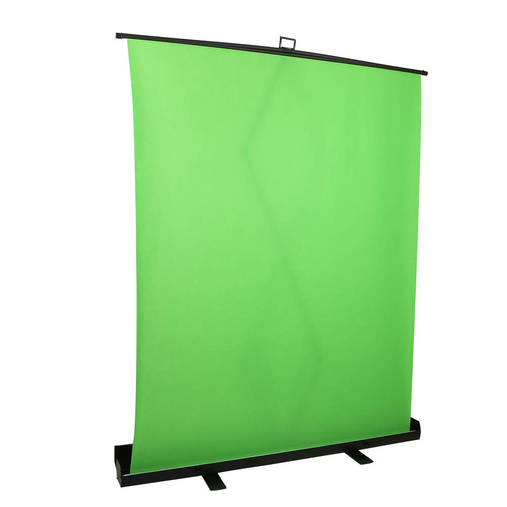 Longda Collapsible and Retractable Green Chromakey Screen with Built-in Aluminum Case, Premium Backdrop Screen, Green Photo Background, Fast and Easy Setup (Green, 1.5X 2M/ 59 x 78.7 in)