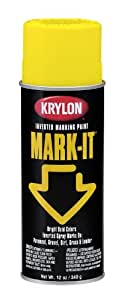Krylon RDMI1004A Mark-It Inverted Spray, Bright Yellow, 12 Ounce