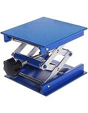 MCLseller Laboratory Lifting Platform, Lab Jack, Aluminum Alloy Lab Stand Table Scissor Rack, Adjustable 100x100 mm