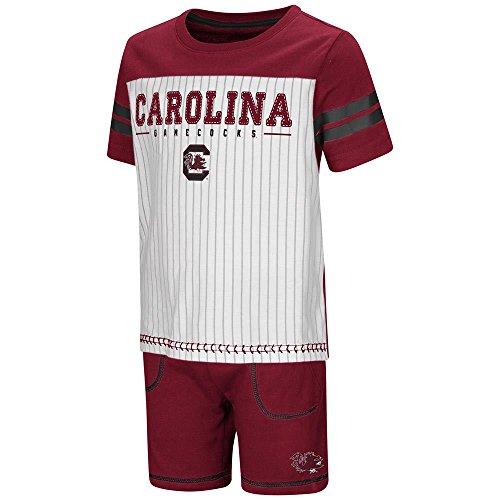 Colosseum Toddler South Carolina Gamecocks Pinstripe Tee Shirt and Shorts Set - 2T
