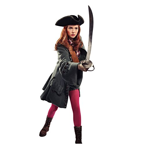 Karen Gillan 8 inch x 10 inch PHOTOGRAPH Guardians of the Galaxy Doctor Who Oculus Full Body w/Pirate Sword & Hat White Background kn