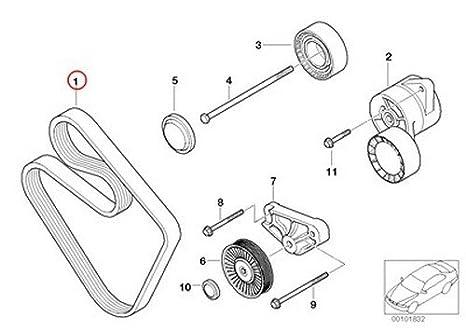 amazon bmw oem belt alternator water pump power steering 6k Volvo Wiring Diagrams amazon bmw oem belt alternator water pump power steering 6k x 1453 e85 11287509520 z4 2 5i z4 3 0i automotive