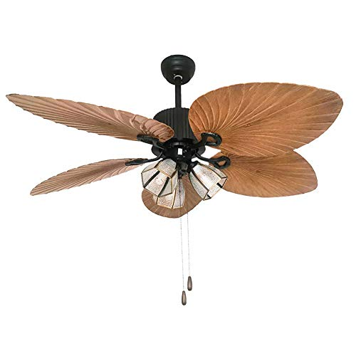 Palm-Island-Bali-Breeze-Ceiling-Fan-Five-Palm-Leaf-Blades-Tropical-Fan-With-Remote-Control-52-inches-Brown-3-Lights