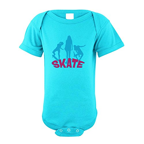 Cute Rascals Skate Splash Sport Cotton Envelope Neck Unisex Baby Bodysuit One Piece - Aqua Blue, 12 - Baby Splash Aqua