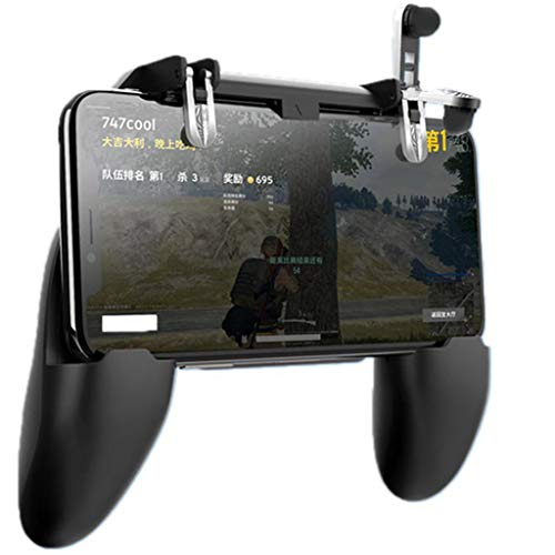 Chicken Shoot Wii (Game Controller, Mobile Game Controller Sensitive Shoot and Aim Joysticks Gamepad Handle for PUBG by Ikevan)