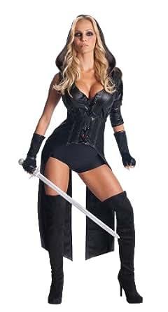 Secret Wishes Womens Sucker Punch Sweet Pea Costume, Black, X-Small