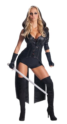 Secret Wishes Womens Sucker Punch Sweet Pea Costume, Black, (Xs Sexy Halloween Costumes)