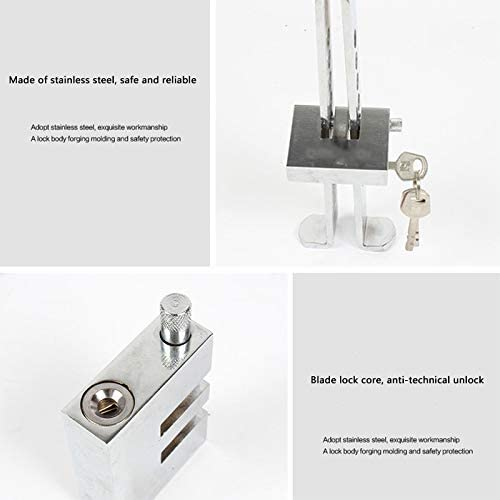 TOOGOO Auto Brake Clutch Pedal Lock Stainless Steel Anti-Theft Device Strong Security for Universal Cars Burglar Alarm Quality