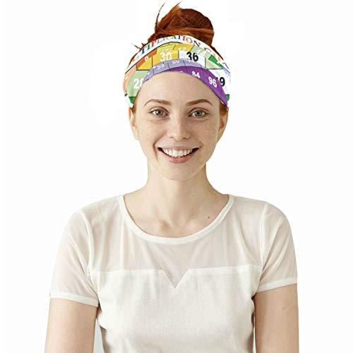 Headwear Floral Sweatband Elastic Turban Sport Headband Outdoor Head Wrap