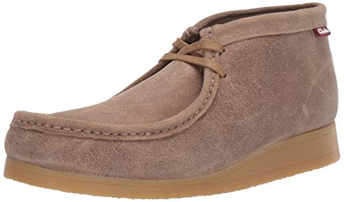 CLARKS Men's Stinson Hi Fashion Boot, Taupe Distressed Suede, 10.5 M US (Clarks Men Moccasin)