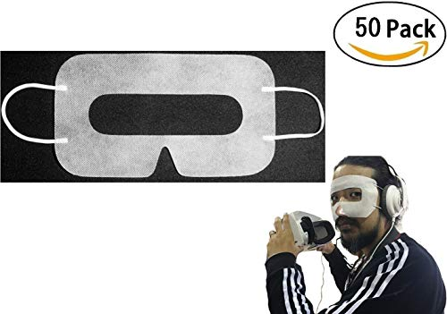 [50pcs] Disposable Face Cover Mask, Sanitary Mask for HTC Vive/PS VR/Gear VR/Oculus Rift- Prevent Eye Infections