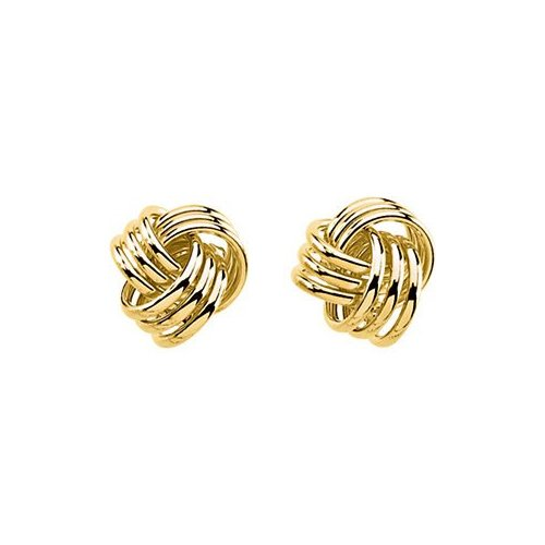 14 Karat Yellow Gold Love Knot Earrings by Gold and Diamond Source (Image #2)