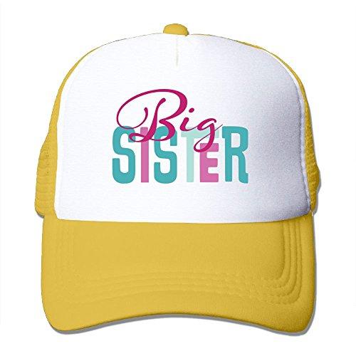 Oiir Ooiip Big Sister 2 Unisex Adjustable Mesh Baseball Cap Dad Trucker (Sister Womens Cap)