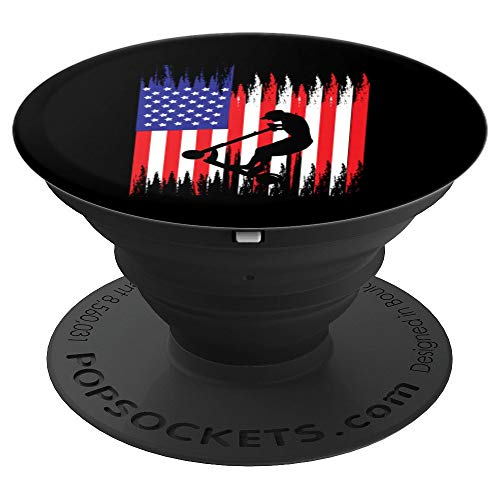 Stunt Scooter American Kick Trick Competition Art Gift - PopSockets Grip and Stand for Phones and Tablets