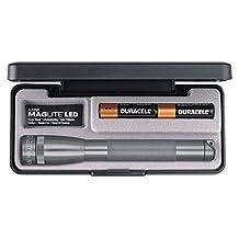 MAGLITE SP22097 Presentation Box 2-AA Cell Mini-Maglite LED Flashlight (Gray)