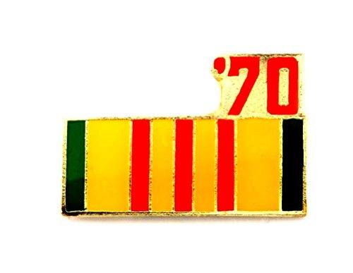 (Vietnam Veteran 1970 Ribbon Lapel Hat Pin Marines Army Navy Air Force PPM798)
