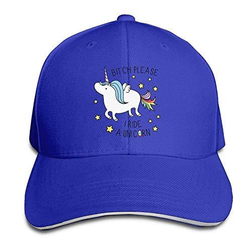 Hat I Ride A Unicorn Denim Skull Cap Cowboy Cowgirl Sport Hats for Men Women