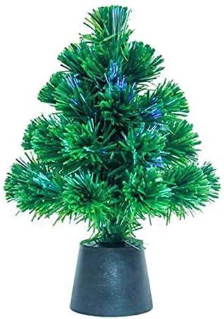Gadget sap mini kerstboom met USBaangedreven kleur vezel optische kerstverlichting 30cm bureautafel decoratiegroen