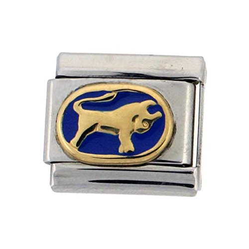 Zodiac Sign Italian Bracelet Charm - Stainless Steel 18k Gold Taurus Zodiac Sign Charm for Italian Charm Bracelets