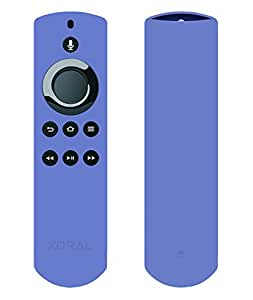 Koral Case for Alexa Voice Remote for Fire TV Stick, Fire TV Streaming Media Player, and Fire TV Cube (Periwinkle Blue)