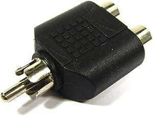 Cablematic - Adaptador RCA macho a 2 RCA hembra