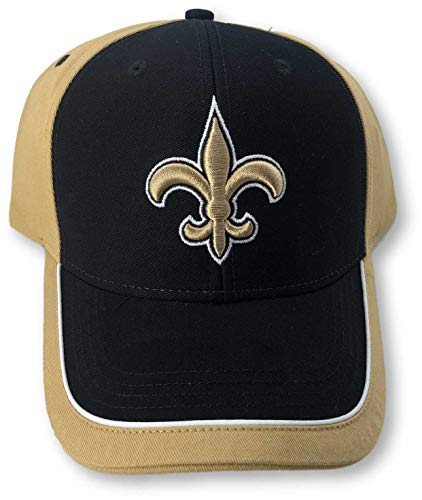 NFL Team Apparel New Orleans Saints Two Tone Adjustable Adult Cap Hat