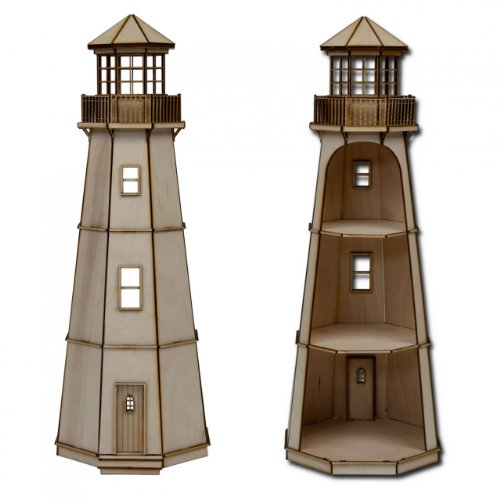 "Half Scale Lighthouse Laser Cut Kit 1/2"" Scale"