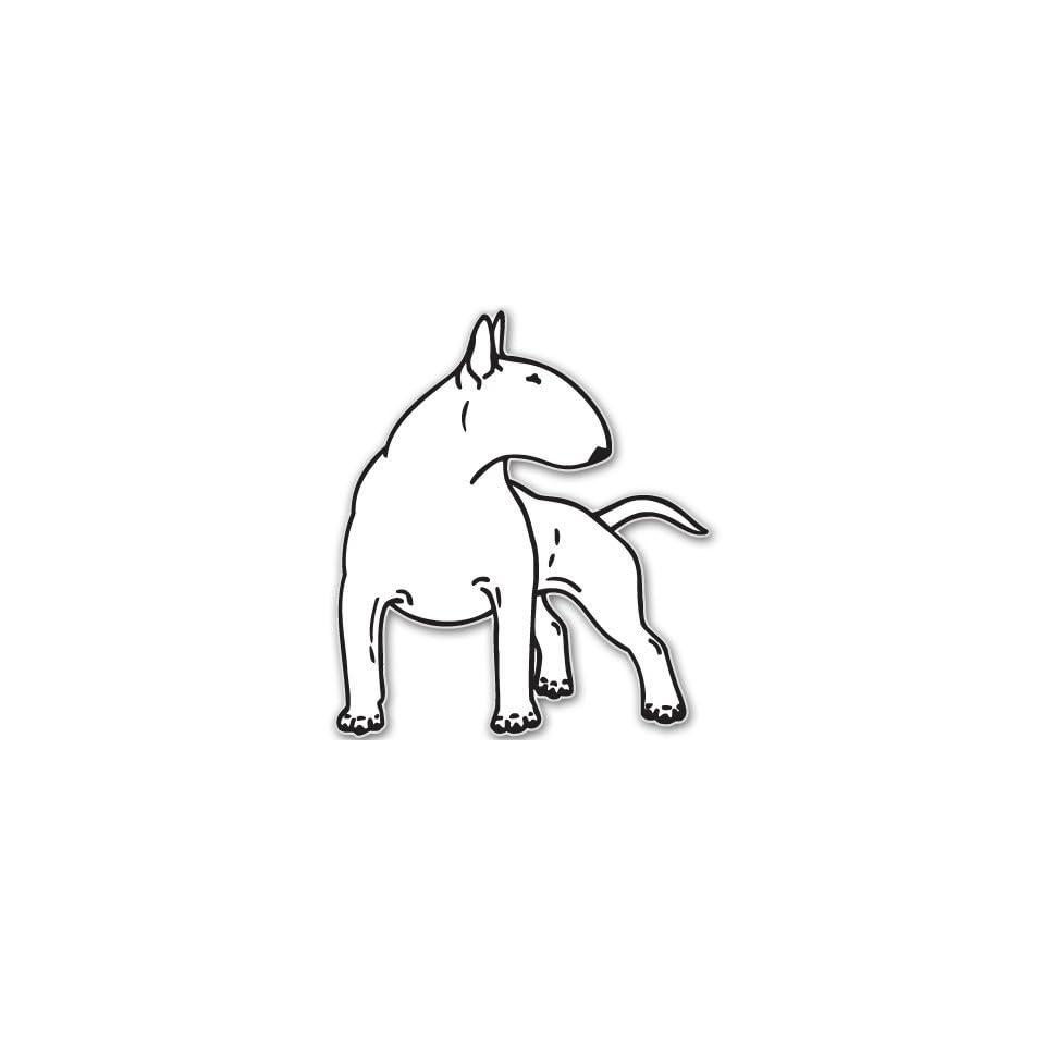 BULL TERRIER dog car bumper sticker decal 6 x 6