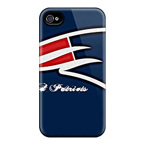 Excellent Hard Cell-phone Case For Iphone 4/4s With Customized Vivid New England Patriots Series CharlesPoirier