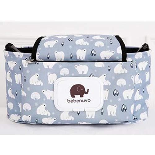 Surobayuusaku Baby Carriage Bag Diaper Pack Universal Cup Holder Baby Stroller Bag Nylon Sundries Organizer