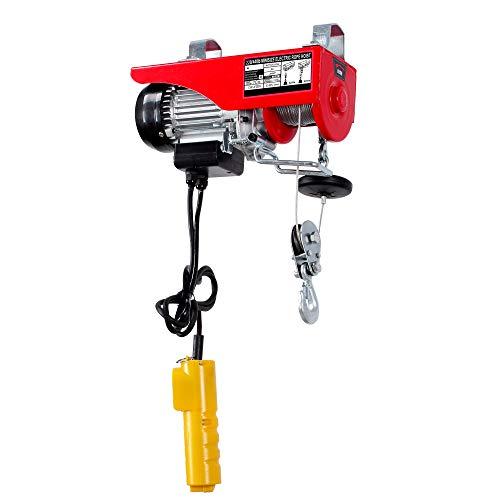 Arksen 440LB Pound Overhead Electric Motor Engine Hoist Lift Crane Lifter Automotive Garage Auto Winch Remote Control Dual Line Function Commercial ETL Approved (Engine 440)