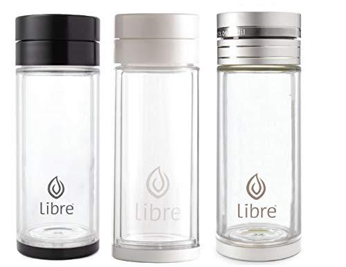 ef45fe28be Libre Tea Glass Tea Gift Set Infuser Bottle with Mesh Strainer for Loose  Leaf Tea,