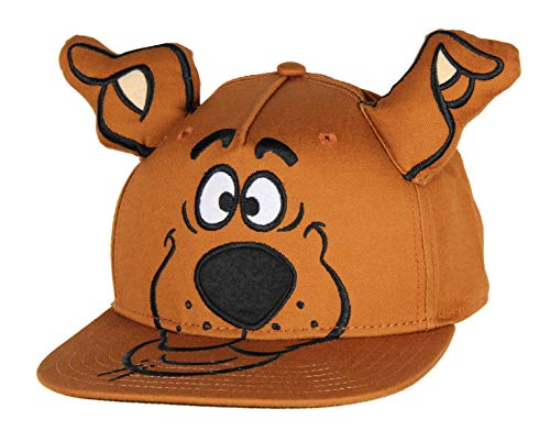 Scooby Doo Embroidered Character Face Adult Adjustable Snapback Hat Cap with 3D Ears Brown from Bioworld