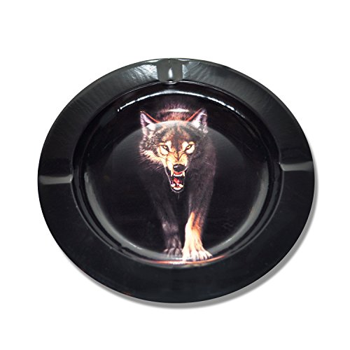 Wolf-Design-Metal-Cigarette-Cigar-Ashtray