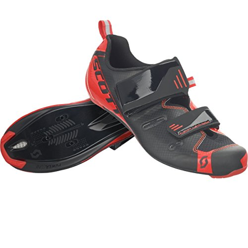 Scott Tri Pro Triathlon bicicleta guantes negro/rojo 2018