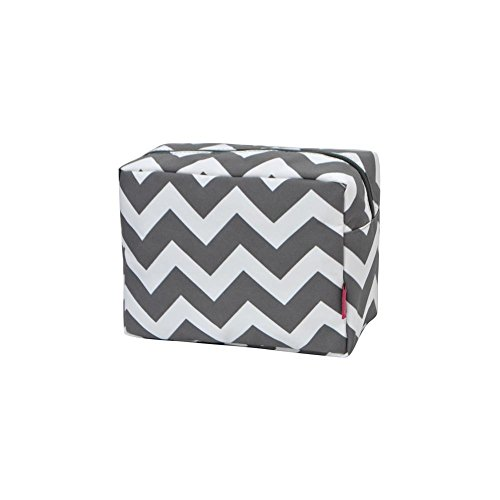 N. Gil Large Travel Cosmetic Pouch Bag 2 (Chevron Grey) -