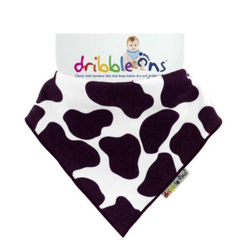 Dribble Ons Baby Bandana Bibs Designer Series, Cow Print