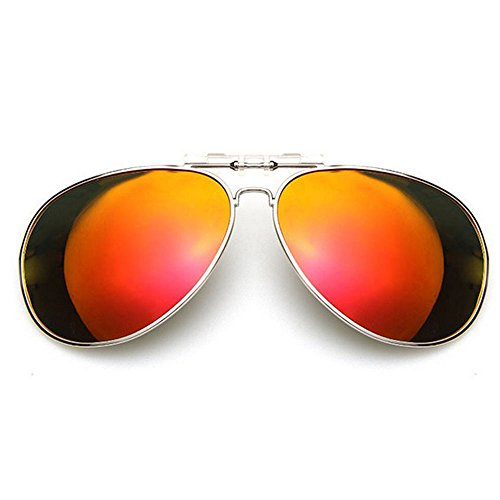 Homieco™ Unisex Fashion Sunglasses Polarized UV400 Lens Clip-on Flip-up Eyewear Mirrored Outdoor eye Driving Sun - Sunglasses Trade