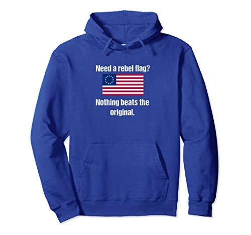 Unisex Need A Rebel Flag? Anti-Confederate Resistance Hoodie XL: Royal Blue (Confederate Cotton Flags)