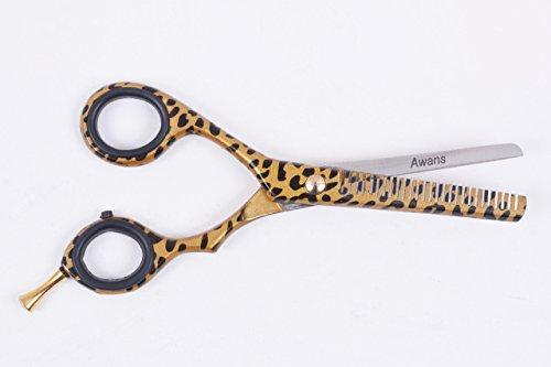 Left Handed Hairdressing Barber Salon Scissors 5.5'', Thinning Scissors 6'', Barber scissors, Scissors hair, Hair Styling Scissors, Hair Cutting Scissors, Leopard Pattern by Awans (Image #3)