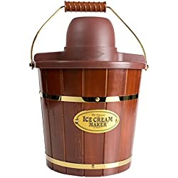 Nostalgia ICMW400 4-Quart Wood Bucket Ice Cream Maker