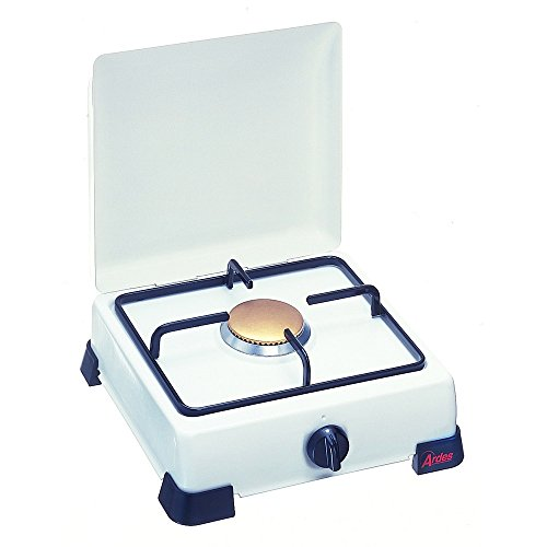 Ardes ZEUS Enamelled Gas Stove with Lid and Grill in Enamelled Plate, Feet White 1 Fuoco ()