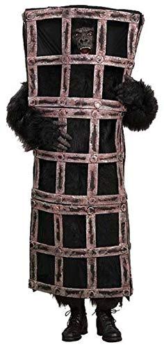 Man In Cage Gorilla Costume (Forum Gorilla In A Cage Costume, Brown, One)