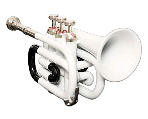 BEST QUILITY Nasir Ali Ptr-10 Pocket Trumpet WHITE AND BLACK by NASIR ALI
