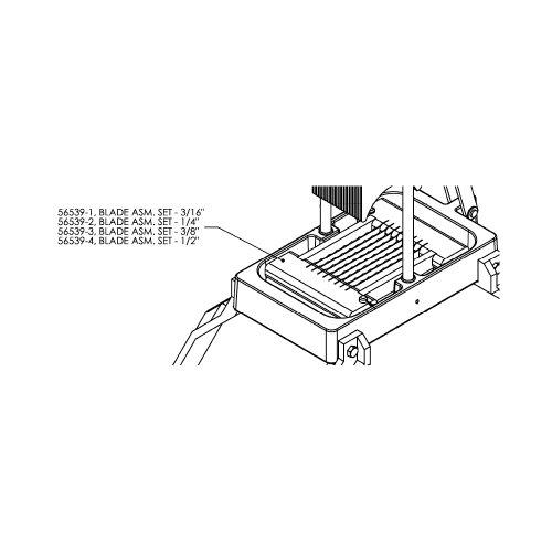 Nemco - 56539-1 - 3/16 inch Blade Assembly ()
