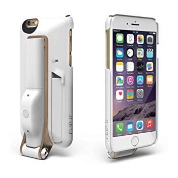 FLIP IT 4-in-1 case white, Selfie Stick Case for iPhone 6 / 6s - Bluetooth Remote + Kickstand