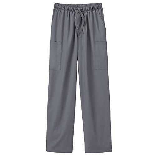 (White Swan Fundamentals 14843 Unisex Five Pocket Scrub Pant Pewter XL)