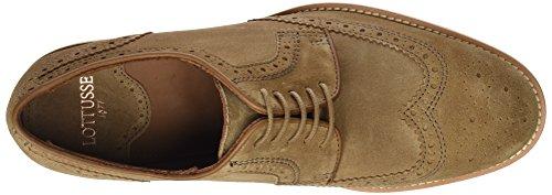 Beige Lottusse T2039 Cordones para Legno Camoscio de Zapatos Brogue Hombre r0gdqrxO