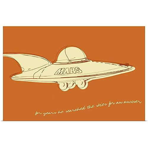 GREATBIGCANVAS Poster Print Entitled Lunastrella Flying Saucer by John W. Golden -