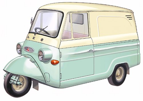 Mitsubishi Pet Leo Van Cream/Green (Le Toy Van Jungle)